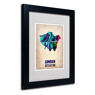 Trademark Fine Art 'London Watercolor Map 2' 11