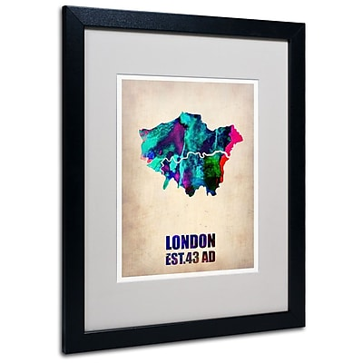Trademark Fine Art 'London Watercolor Map 2' 16