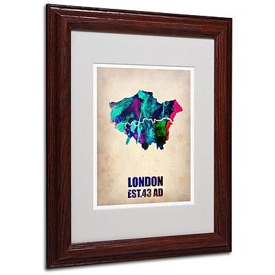 Trademark Fine Art 'London Watercolor Map 2' 11