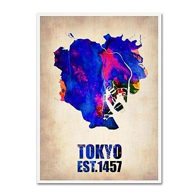 Trademark Fine Art 'Tokyo Watercolor Map' 18
