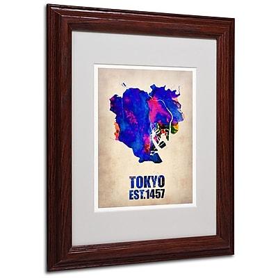 Trademark Fine Art 'Tokyo Watercolor Map' 11