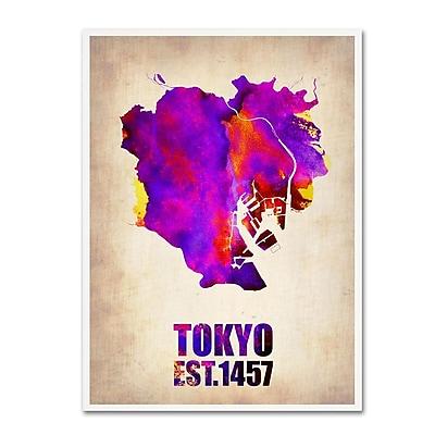 Trademark Fine Art 'Tokyo Watercolor Map 2' 24
