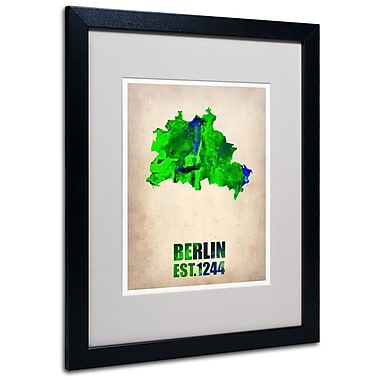 Trademark Fine Art 'Berlin Watercolor Map' 16