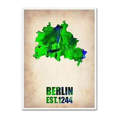 Trademark Fine Art 'Berlin Watercolor Map' 18