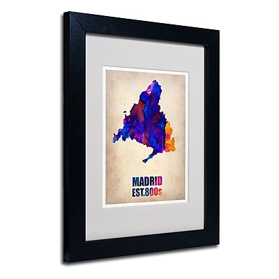 Trademark Fine Art 'Madrid Watercolor Map' 11
