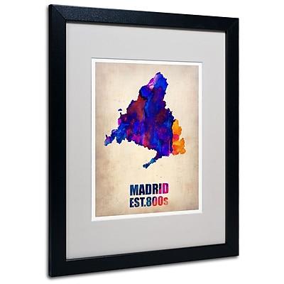 Trademark Fine Art 'Madrid Watercolor Map' 16