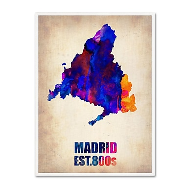 Trademark Fine Art 'Madrid Watercolor Map' 14
