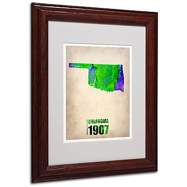 Trademark Fine Art 'Oklahoma Watercolor Map' 11