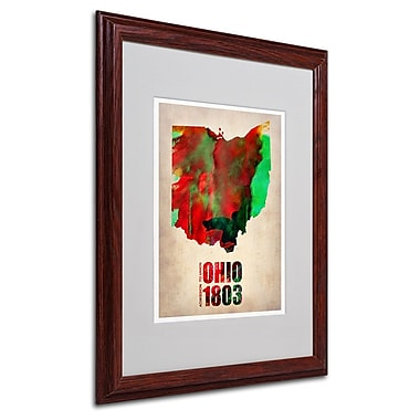 Trademark Fine Art 'Ohio Watercolor Map' 16