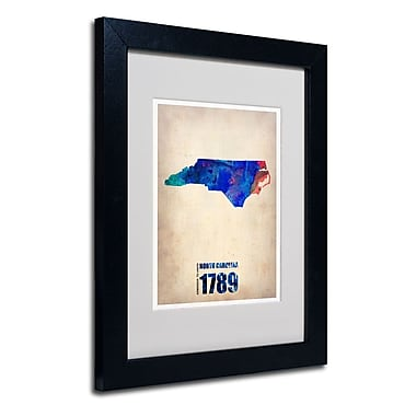 Trademark Fine Art 'North Carolina Watercolor Map'