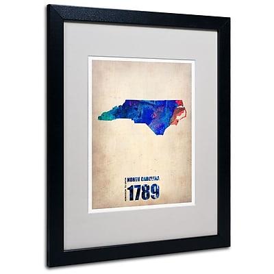 Trademark Fine Art 'North Carolina Watercolor Map' 16