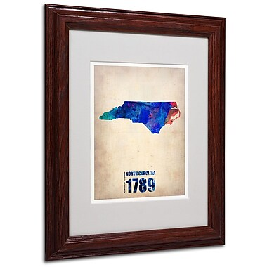 Trademark Fine Art 'North Carolina Watercolor Map' 11