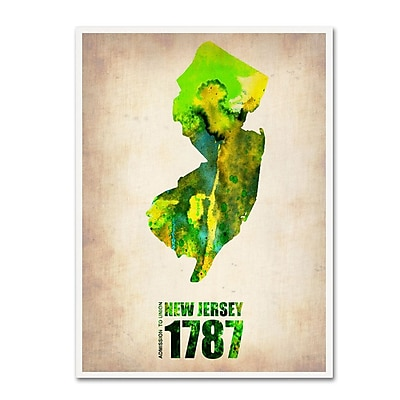 Trademark Fine Art 'New Jersey Watercolor Map' 14