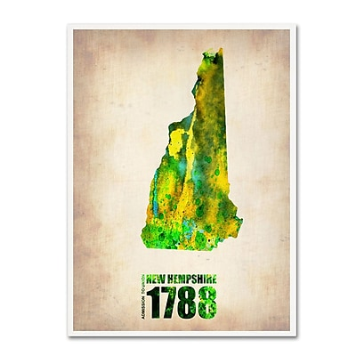 Trademark Fine Art 'New Hampshire Watercolor Map' 35