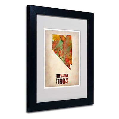 Trademark Fine Art 'Nevada Watercolor Map' 11