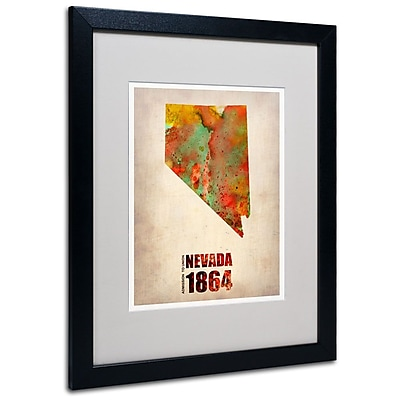 Trademark Fine Art 'Nevada Watercolor Map' 16