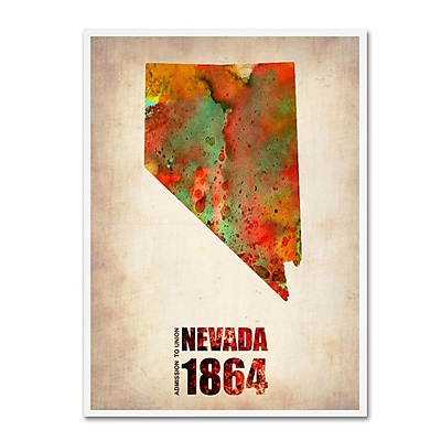 Trademark Fine Art 'Nevada Watercolor Map' 14