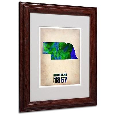Trademark Fine Art 'Nebraska Watercolor Map' 11