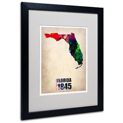 Trademark Fine Art 'Florida Watercolor Map' 16