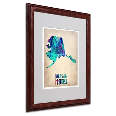 Trademark Fine Art 'Alaska Watercolor Map' 16