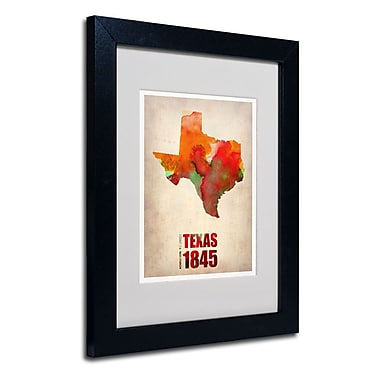 Trademark Fine Art 'Texas Watercolor Map' 11