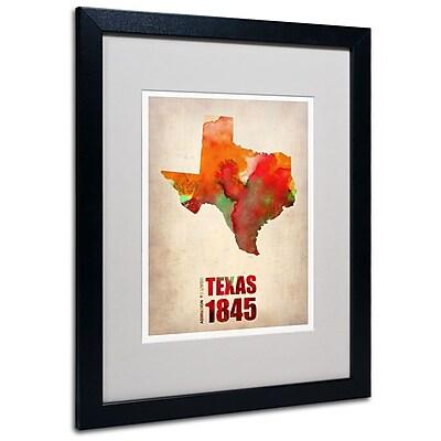 Trademark Fine Art 'Texas Watercolor Map' 16