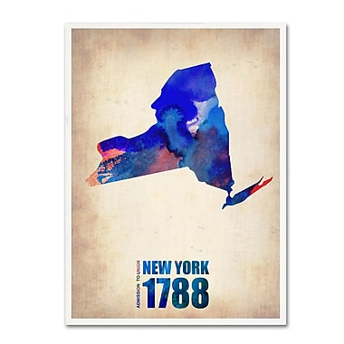 Trademark Fine Art 'New York Watercolor Map' 14