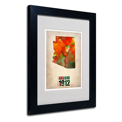 Trademark Fine Art 'Arizona Watercolor Map' 11
