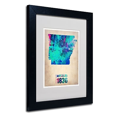 Trademark Fine Art 'Arkansas Watercolor Map' 11