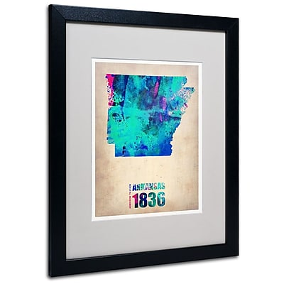 Trademark Fine Art 'Arkansas Watercolor Map' 16