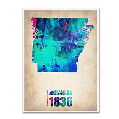 Trademark Fine Art 'Arkansas Watercolor Map' 14