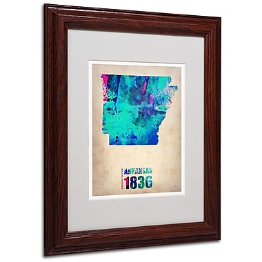 Trademark Fine Art 'Arkansas Watercolor Map' 11