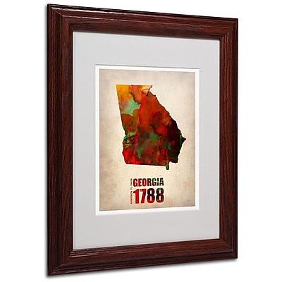 Trademark Fine Art 'Georgia Watercolor Map' 11