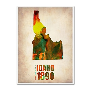 Trademark Fine Art 'Idaho Watercolor Map' 14