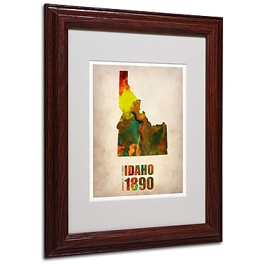 Trademark Fine Art 'Idaho Watercolor Map' 11
