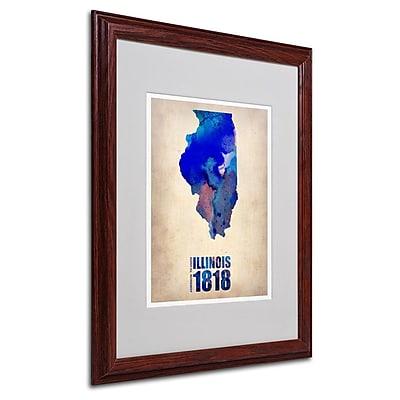 Trademark Fine Art 'Illinois Watercolor Map' 16