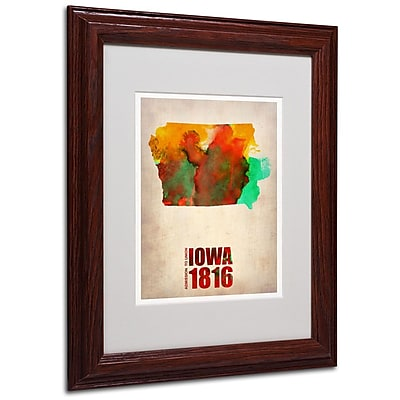 Trademark Fine Art 'Iowa Watercolor Map' 11