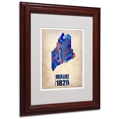 Trademark Fine Art 'Maine Watercolor Map' 11