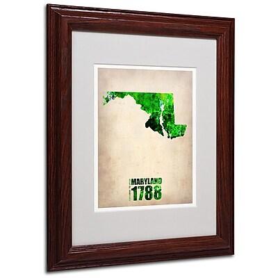 Trademark Fine Art 'Maryland Watercolor Map' 11