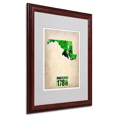 Trademark Fine Art 'Maryland Watercolor Map' 16