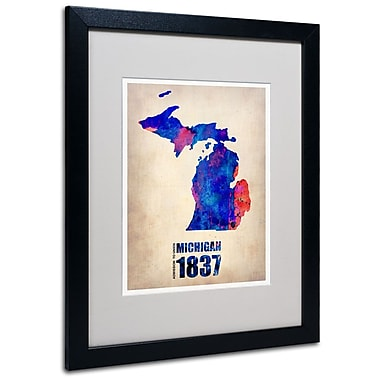 Trademark Fine Art 'Michigan Watercolor Map' 16