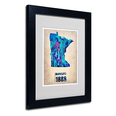 Trademark Fine Art 'Minnesota Watercolor Map' 11