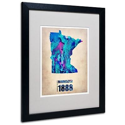 Trademark Fine Art 'Minnesota Watercolor Map' 16