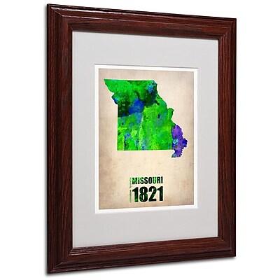Trademark Fine Art 'Missouri Watercolor Map' 11