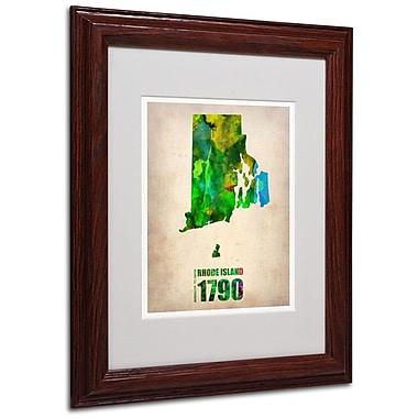 Trademark Fine Art 'Rhode Island Watercolor Map' 11