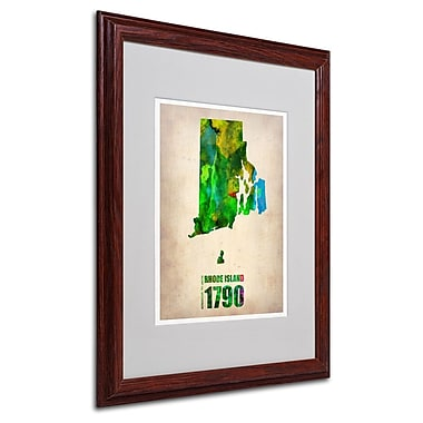 Trademark Fine Art 'Rhode Island Watercolor Map' 16
