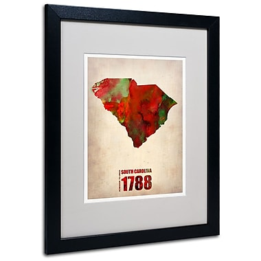 Trademark Fine Art 'South Carolina Watercolor Map' 16