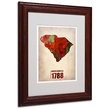 Trademark Fine Art 'South Carolina Watercolor Map' 11