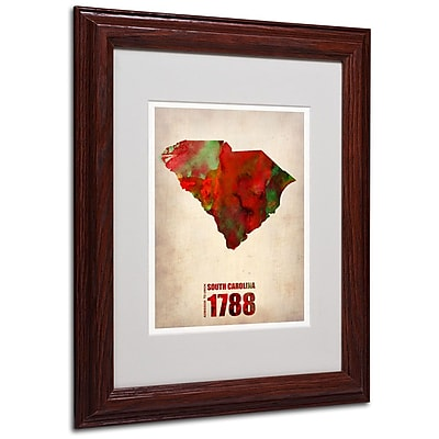 Trademark Fine Art 'South Carolina Watercolor Map' 11