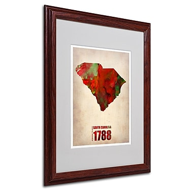 Trademark Fine Art 'South Carolina Watercolor Map' 16